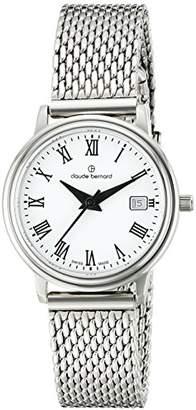 Claude Bernard Women's 54005 3M BR Classic Ladies Analog Display Swiss Quartz Silver Watch