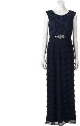 Women's Jessica Howard Tiered Lace Evening Gown $290 thestylecure.com