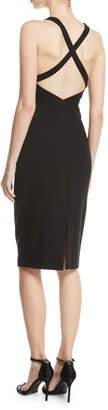 LIKELY Alexia Cross-Back V-Neck Midi Dress
