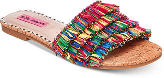 Betsey Johnson Venus Slide Flat Sandals Women's Shoes