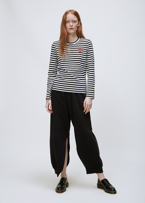 Comme des Garcons PLAY black/white striped long sleeve t-shirt $156 thestylecure.com