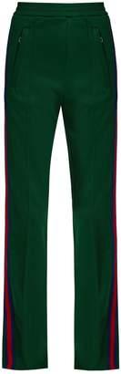 GUCCI Web-striped jersey track pants $900 thestylecure.com