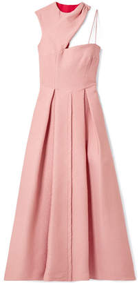 Emilia Wickstead Aubrey Cutout Pleated Two-tone Cloqué Gown - Pink