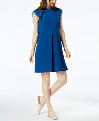 Marella Lazio Ruffled-Shoulder Georgette Dress
