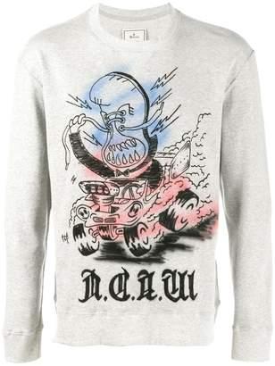 Miharayasuhiro painted sweatshirt