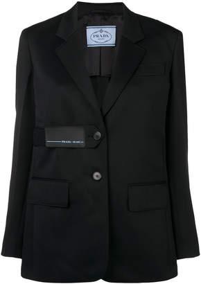 Prada logo detail blazer