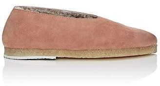 Marsèll Women's Suede & Shearling Flats - Pink