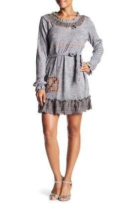 Couture Simply Long Sleeve Topstitch Dress