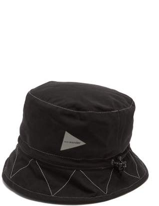 And Wander - Reflective Stitched Waterproof Bucket Hat - Mens - Black