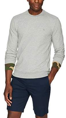 Original Penguin Men's Long Sleeve Camo Cuff Crew Neck Sweat