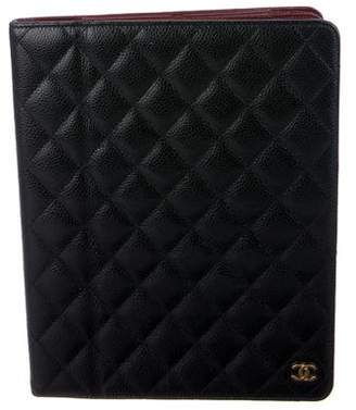 Chanel Quilted Caviar iPad Case