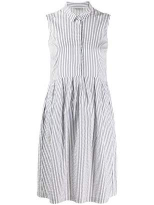 Peserico striped sleeveless shirt dress