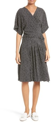 Women's Diane Von Furstenberg Polka Dot Silk D-Ring Wrap Dress $468 thestylecure.com