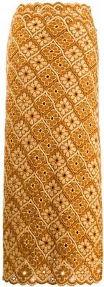 Comme des Garcons Pre-Owned 1990s floral tile skirt