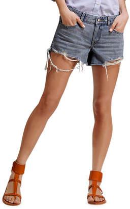 DL1961 Premium Denim Renee Cutoff Shorts with Destructed Hem