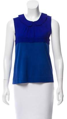 Marni Peter Pan Collar Sleeveless Top
