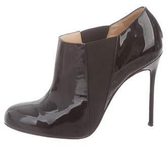 Christian Louboutin Patent Leather Round Ankle boots