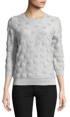 Lord & Taylor Petite Shadow Dot Sweater