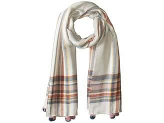 Collection XIIX Multi Stripe Border Blanket Wrap