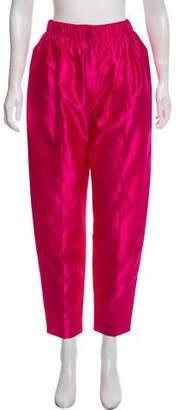 Balenciaga High-Rise Satin Pants