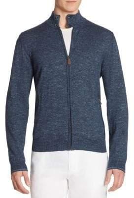 Saks Fifth Avenue COLLECTION Tweed Zip-Front Cardigan