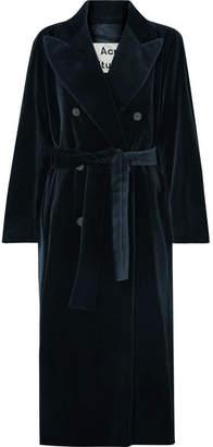 Acne Studios Cotton-velvet Coat - Navy