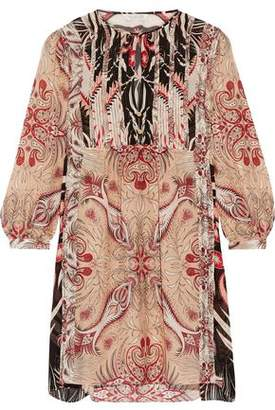 Rachel Zoe Lucia Printed Silk Crepe De Chine Mini Dress