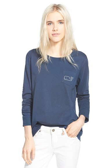 Women's Vineyard Vines Whale Print Long Sleeve Tee