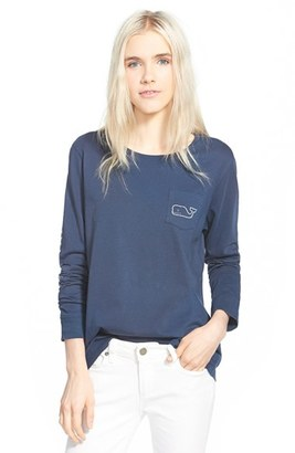 Women's Vineyard Vines Whale Print Long Sleeve Tee $49.50 thestylecure.com