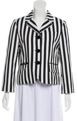 Marc Jacobs Striped Casual Blazer