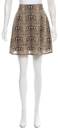 Marc by Marc Jacobs Silk Printed Skirt