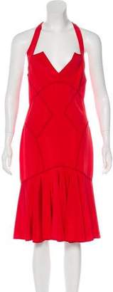 Zac Posen Silk Sleeveless Midi Dress w/ Tags