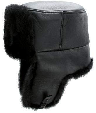 Mink Fur-Trimmed Trapper Hat