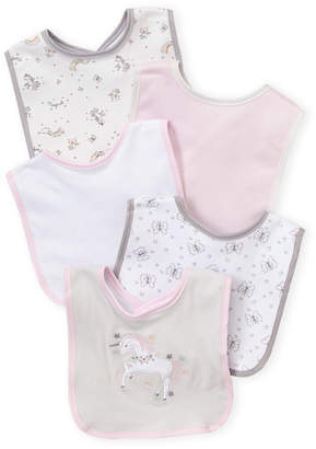 Baby Essentials Kyle & Deena (Newborn/Infant Girls) 5-Pack Butterfly Bib