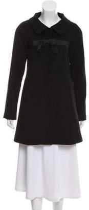 Theory Knee-Length Wool Coat