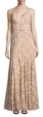 Sleeveless Floral-Lace Gown $448 thestylecure.com