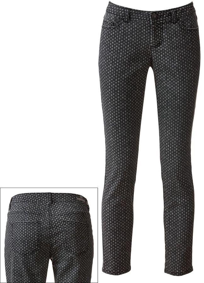 Lauren Conrad geometric skinny jeans