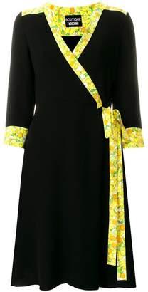 Moschino contrast-trim wrap dress
