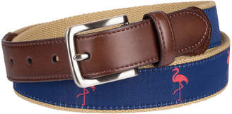 ST. JOHN'S BAY Embroidered Flamingo Belt