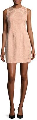 Theory Hourglass Baroque Jacquard Sleeveless Hourglass Dress
