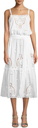 Miguelina Esme Versailles Eyelet Midi Dress