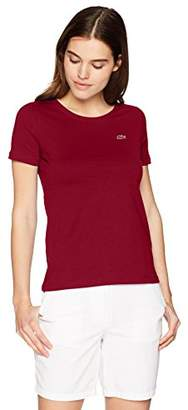 Lacoste Women's Short Sleeve Classic Supple Jersey Crew Neck T-Shirt