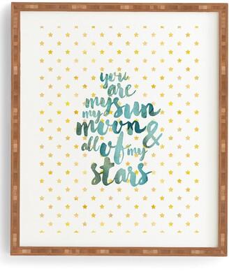 Deny Designs You Are My Sun Moon & Stars Framed Wall Art