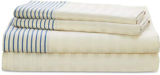 Lauren Ralph Lauren Josephina Cotton 4-Pc. Textured Yarn-Dyed Stripe California King Sheet Set Bedding