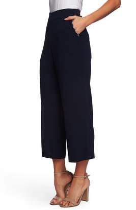 751ad4534d69 CeCe Scallop Pocket Detail Wide Leg Crepe Pants