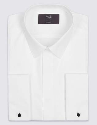 Marks and Spencer Cotton Blend Regular Fit Dinner Shirt