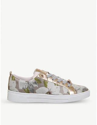 Office Ahfiraj chatsworth bloom jacquard trainers
