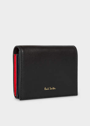 Paul Smith Women's Black 'Concertina' Leather Card Wallet