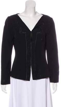 Alberta Ferretti Embroidered Structured Jacket