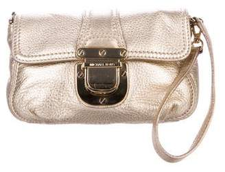 MICHAEL Michael Kors Metallic Leather Wristlet